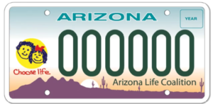 Choose Life AZ License Plates