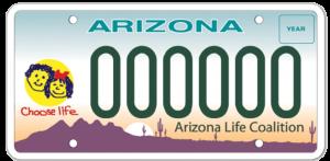 Choose Life AZ License Plates